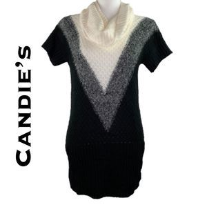 Candie's Black White Sweater Dress NWT Size XS